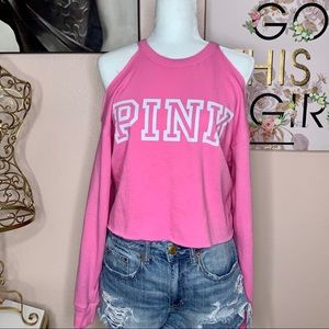 💗VS PINK Cold Shoulder Top!
